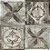 Papel de Parede Stone Age 2 - Ladrilho Medalhão Marrom Velho - SN603802R - Imagem 1