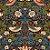 Papel de Parede Stone Age 2 - Marrom Floral - SN604202R - Imagem 1