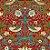 Papel de Parede Stone Age 2 - Vermelho Floral - SN604203R - Imagem 1