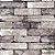 Papel de Parede Stone Age 2 - Tijolo Cinza e Violeta Velho- SN604503R - Imagem 1