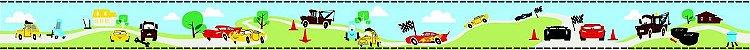Papel de Parede Faixa Carrinhos  - DI0919BDE - Imagem 2