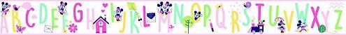 Papel de Parede Faixa ABC Colors Mickey e Minnie - DI0971BDE - Imagem 2