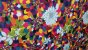 Tecido corino Flores Texturizado  - 1,40 metros de largura - Imagem 2