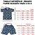 Pijama Infantil 100% Algodão Manga Curta FOGUETES CINZA - Imagem 2