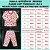 Pijama Infantil Soft CORAÇÕES PESSEGO - Imagem 4