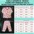 Pijama Infantil Soft ESTRELAS CORAÇÕES ROSE - Imagem 4