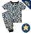 Pijama Infantil SLIM NUVENS PANDA MARINHO - Imagem 1