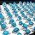 Anéis no Atacado para Revender pacote com 24 anéis azuis - Imagem 2