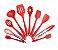 Kit 10 Utensílios Cozinha com Colheres De Silicone - Imagem 1