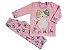 Pijama infantil feminino longo soft gato - Imagem 1
