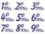 Tatuagens para gestantes -  Meses Azul - Imagem 1