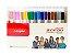 Caneta Esferográfica Gel Sensations ( 16 cores) New Pen - Imagem 1