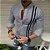 Camisa Social Slim Masculina Mandarim Estilo Las Vegas - Imagem 3