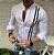 Camisa Social Slim Masculina Mandarim Estilo Las Vegas - Imagem 2