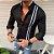 Camisa Social Slim Masculina Mandarim Estilo Las Vegas - Imagem 1