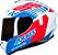Capacete Axxis Draken Z96 - Branco/Vermelho/Azul Brilho - Imagem 1