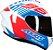 Capacete Axxis Draken Z96 - Branco/Vermelho/Azul Brilho - Imagem 8