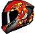 Capacete Axxis Draken Bomb Bomba Preto Vermelho Fosco - Imagem 1