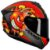 Capacete Axxis Draken Bomb Bomba Preto Vermelho Fosco - Imagem 5