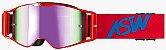 Óculos Asw A3 Matriz Vermelho Cross Motocross Trilha Enduro - Imagem 1