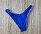 Calcinha de Biquíni Asa Delta Sem Costura Meio Fio Azul com Forro Rosa Chiclete  - Peça Avulsa  - Imagem 1