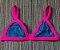 Pré Venda - Biquíni Triângulo de Tiras Largas com Reguladores nas Alças e Sem Bojo Azul - Peça Avulsa - TOP - Imagem 1