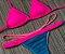 Top de Biquíni Cortininha com Regulagem nas Alcinhas e Bojo Removível Pink Neon - Peça Avulsa - Imagem 3