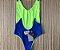 Body Side Boob Alcinhas Sem Bojo Reversível Azul com Amarelo Limão Neon  - Imagem 4