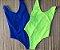 Body Side Boob Alcinhas Sem Bojo Reversível Azul com Amarelo Limão Neon  - Imagem 1