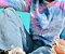Moletom Comfy Tie Dye Rosa e Azul  - Imagem 2