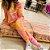 Conjunto Comfy de Moletinho em Tie Dye Laranja, Rosa e Vermelho - Imagem 4