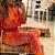 Conjunto Comfy de Moletom em Tie Dye Marmorizado Laranja, Rosa e Vermelho - Imagem 6