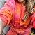 Conjunto Comfy de Moletom em Tie Dye Marmorizado Laranja, Rosa e Vermelho - Imagem 4
