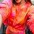 Conjunto Comfy de Moletom em Tie Dye Marmorizado Laranja, Rosa e Vermelho - Imagem 1