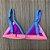 Biquíni Triângulo Tiras Largas Sem Bojo e Regulagens - Mix de Cores Preto com Tons Pastel - Top Vic - Imagem 2
