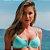 Biquíni Aro V Sem Bojo Com Regulagem Verde Tiffany - Top Adri - Imagem 1