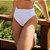 Biquíni Cintura Alta Hot Pants - Branco Canelado - Bottom  - Imagem 3