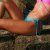 Biquíni Calcinha de Lacinho Azul Enseada Canelado - Bottom Mel - Imagem 2