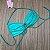 Biquíni Top Drapeado Verde Canelado - Top Paty - Imagem 1