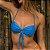 Biquíni Top Drapeado com Bojo Removível -  Azul Enseada Canelado - Top Paty - Imagem 5