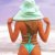 Biquíni com Lacinho e Tira Fina com Elástico e Efeito Empina Bumbum  - Verde Tiffany - Bottom Ari - Imagem 1