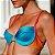 Biquíni Meia Taça com Regulagem Canelado - Mix de Cores Azul Enseada, Amarelo e Vermelho - Top Mila - Imagem 1