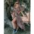 Saída de Praia Vestido Kimono Longo - Estampa Oncinha - Imagem 2