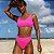 Calcinha de Biquíni Cintura Alta Asa Delta Rosa Neon, Hot Pants, Modelo Cloe - Imagem 1