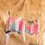 Conjunto de Moletom + Short em Tie-Dye (Laranja, Rosa, Preto e Azul) - Imagem 1