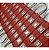 Módulo de 3 Led vermelho com lente Injetado 7025 IP67 12v 160º - Imagem 2
