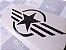 Adesivo estrela militar air force para carenagem de motos - Imagem 1