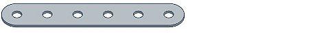 Modelix 297 - Barras com 6 furos - Imagem 1
