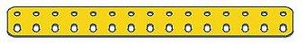 Modelix 389a - Barra 2 Fileiras Plastica 2x15 Amarela - Imagem 1