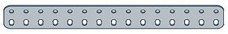 Modelix 404 - Barra de 2 Fileiras 15 furos - Imagem 1